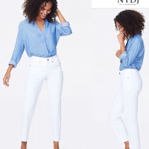 NYDJ Audrey Ankle Jeans in Optic White